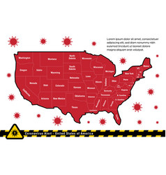 usa united states america corona alert warning vector image
