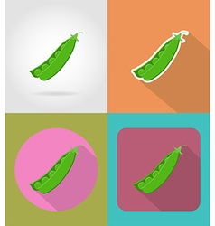 vegetables flat icons 15 vector image vector image