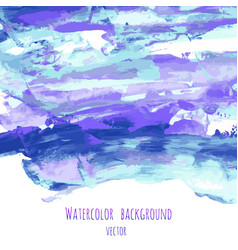 violet indigo purple turquoise blue watercolor vector image