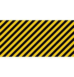 Warning striped rectangular background vector