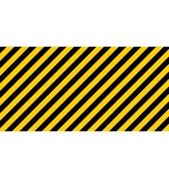 warning striped rectangular background vector image