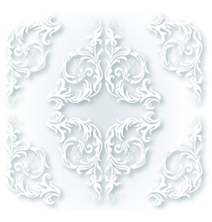 White ornament vector image vector image