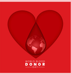 world blood donor day background concept vector image