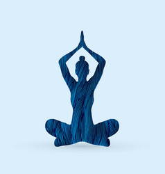 Yoga sitting pose vector