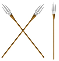 Crossed fantastic forks vector image