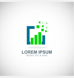 digital business technology logo vector image