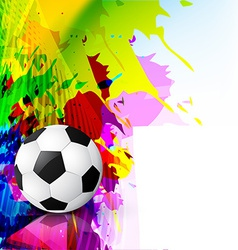 grunge style football vector image vector image