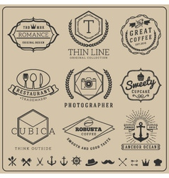 Linear thin line badge logo sets for Product labe vector image vector image