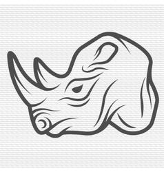 Rhino symbol logo vector