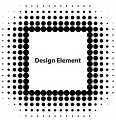 abstract halftone design elements vector image vector image