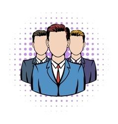 Businessmen comics icon vector image