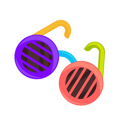childish colorful sunglasses vector image