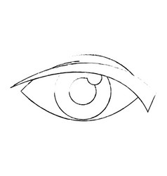 eye look watch cartoon icon vector image vector image
