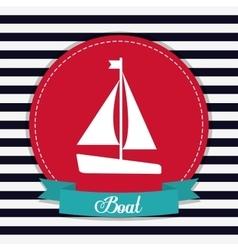sailboat icon Sea lifestyle design vector image vector image