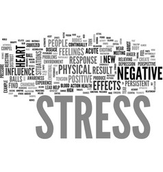 What are the negative effects of stress text word vector