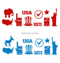 american elections sign set republican elephant vector image