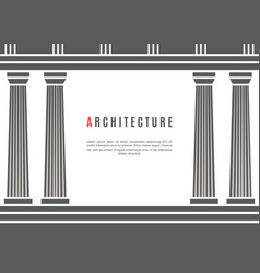 architecture greek temple background vector image