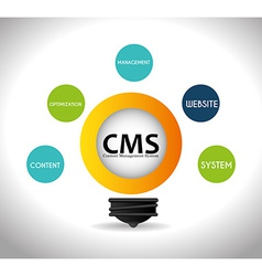 CMS design over white background vector image
