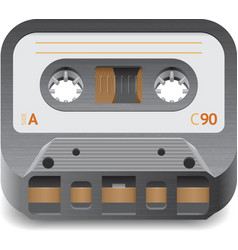 Icon for audio cassette vector image vector image