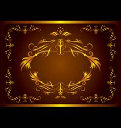 retro element frame vector image