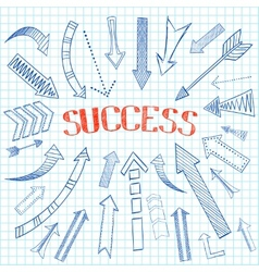 Success arrows icon sketch vector image vector image