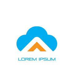cloud business logo image vector image