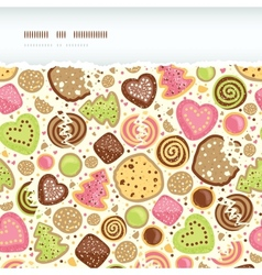 Colorful cookies horizontal torn seamless pattern vector image vector image