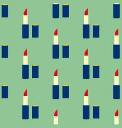 lipstick make up seamless pattern vector image vector image