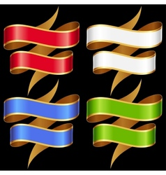 Ribbons set Multicolored banners vector image vector image