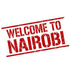 welcome to nairobi stamp vector image vector image