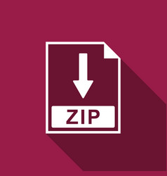 zip file document icon download zip button icon vector image vector image