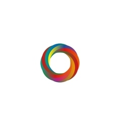Abstract colored segments circle logo mockup idea vector image