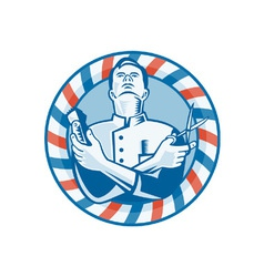 Barber With Clipper Hair vector image