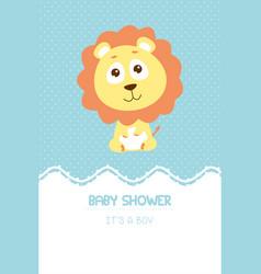 Bashower invitation card vector