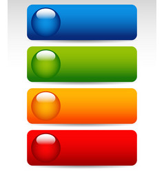 big bright colorful buttons vector image