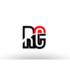 Black white alphabet letter rc r c logo icon vector