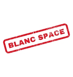 Blanc Space Text Rubber Stamp vector