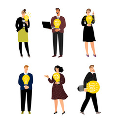 business people have new ideas collection vector image
