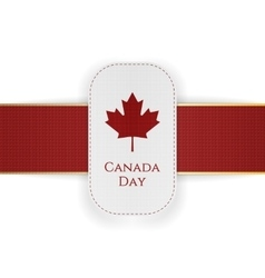 canada day paper banner with red ribbon vector image