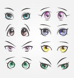 Cartoon female eyes closeup eyes beautiful vector