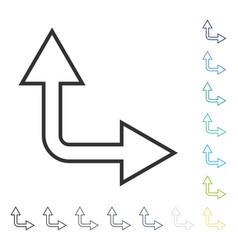 Choice arrow right up icon vector