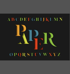 colorful stencil alphabet vector image