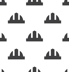 construction helmet seamless pattern vector image