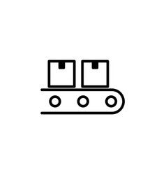 Conveyor belt icon on white background vector