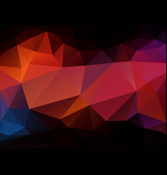 dark orange sunset geometric background vector image