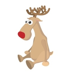 Deer cartoon icon vector image
