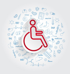 disabled icon in trendy style isolated on vector image