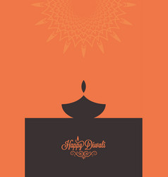 diwali lamp contrast concept design background vector image