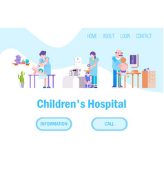 Doctors for children in hospital or medical clinic vector