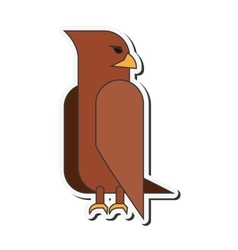 eagle cartoon icon vector image